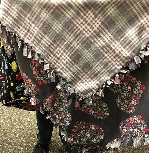 Heart Paw Prints Lap/Pet Blanket
