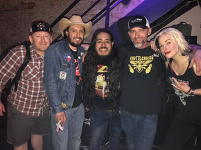 TR with members of The Heroine at Lit Lounge