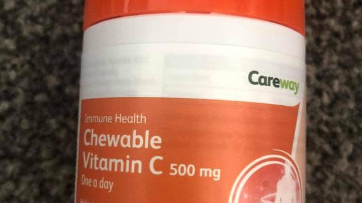 Careway Chewable Vitamin C 500 mg
