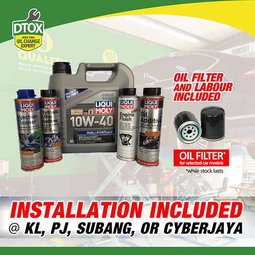 Liqui Moly 5 in 1 Engine Oil + Additives Service Package
