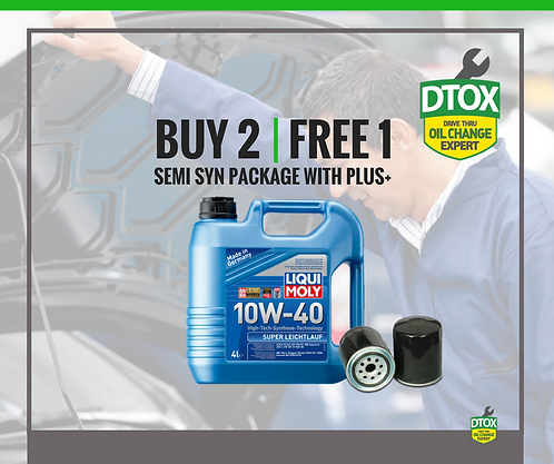 Liqui Moly BUY 2 FREE 1 Semi Synthetic Service Package With Signature PLUS+