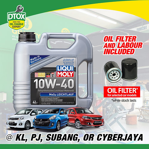 Liqui Moly Semi Synthetic Oil Change Service Package