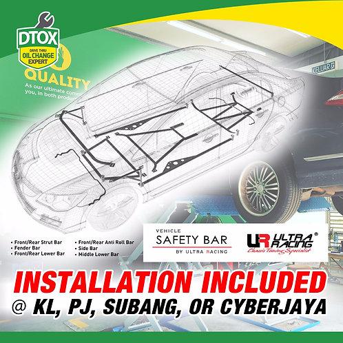 Ultra Racing Bar For Perodua Myvi 1.3 Stage 1 (2 bars)