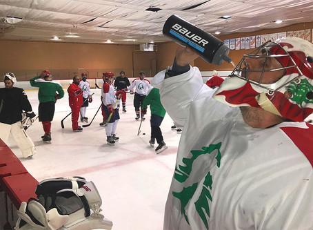 Des Montréalais d'origine libanaise s'entraînent en vue de la Coupe arabe des clubs de hockey