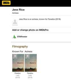 IMDB for Paradox with Neil Young
