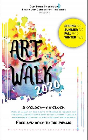 spring art walk 2020 Sherwood Center for