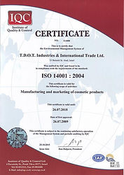 ISO 22716:2007 certificate