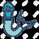 91053750-avatar-mermaid-icon-over-white-