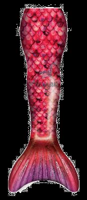 Rose Petal Mermaid Tail