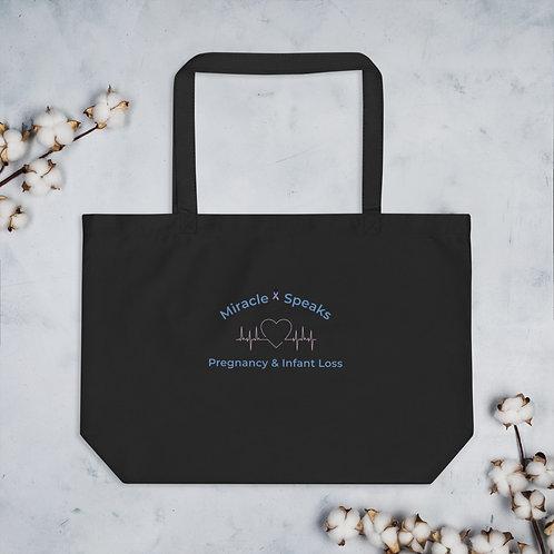 Miracle Speaks Large tote bag