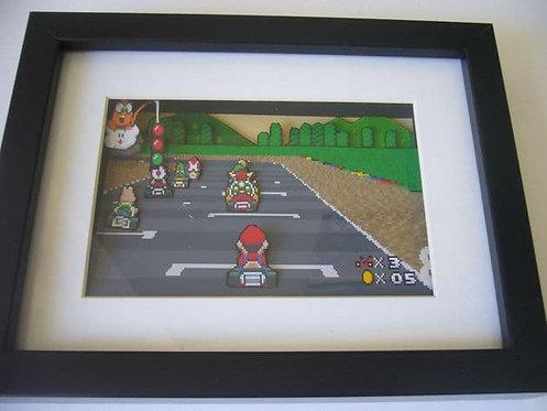 Super Mario Kart 3D Diorama Shadow Box
