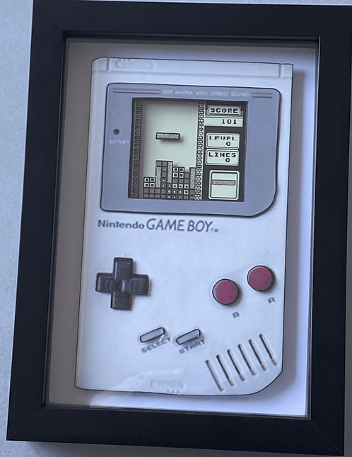 Nintendo Gameboy Tetris ~ 3D Diorama Shadow Box