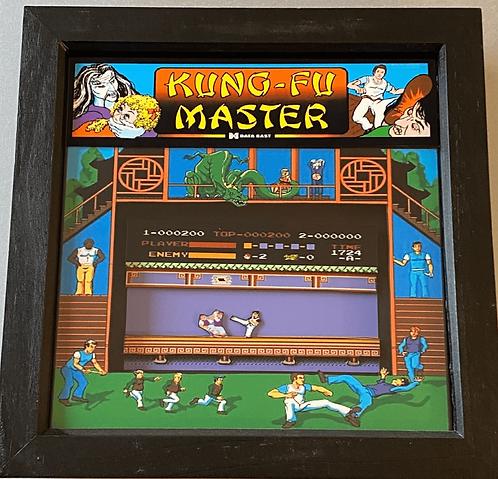 KUNG FU MASTER Arcade Art 3D Shadow Box