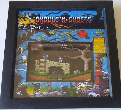 GHOULS N GHOSTS Arcade Screen 3D Diorama Shadow Box