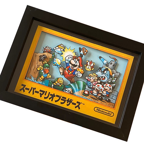 Mario Bros Japanese box art 3D Diorama Shadow Box