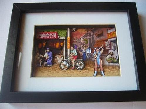 Street Fighter 2 Chun Li 3D Diorama Shadow Box