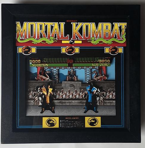 MORTAL KOMBAT Arcade Screen 3D Diorama Shadow Box