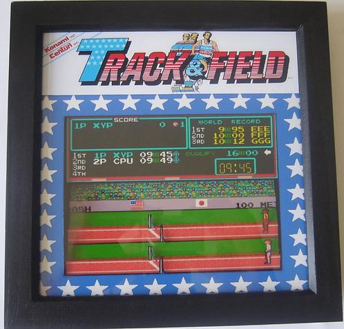 TRACK & FIELD 3D Arcade Art
