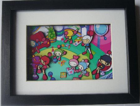 Bomberman Arcade Art 3D Diorama Shadow Box