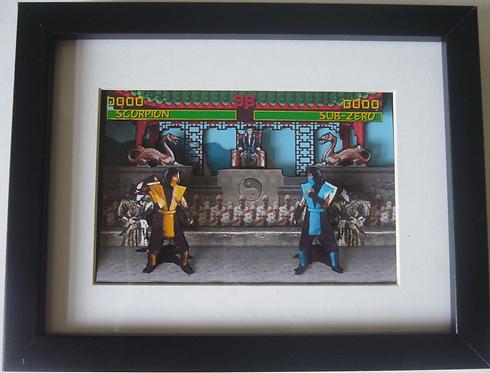 Mortal Kombat 3D Diorama Shadow Box