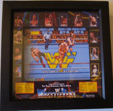 WWF WRESTLEFEST Arcade Screen 3D Diorama Shadow Box