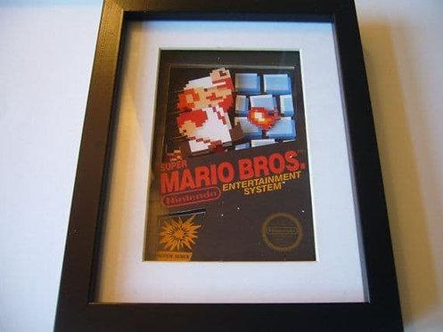 NES Box Art ~ Mario Bros ~ 3D Diorama Shadow Box
