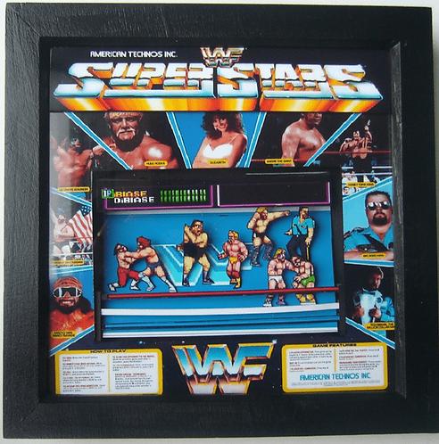 WWF SUPERSTARS Arcade Screen 3D Diorama Shadow Box