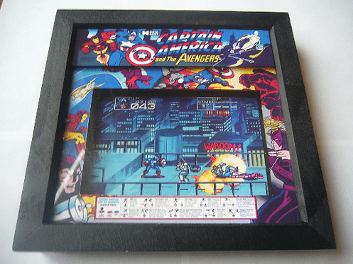 CAPTAIN AMERICA & THE AVENGERS Arcade Screen 3D Diorama Shadow Box