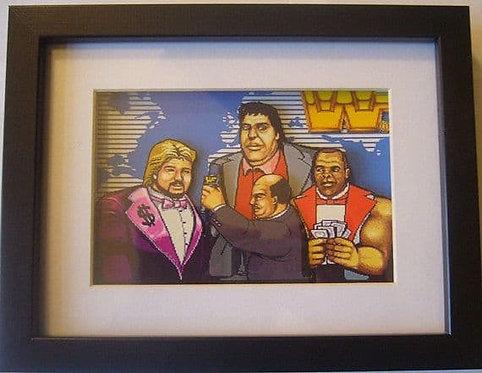 WWF Superstars MegaBucks 3D Diorama Shadow Box