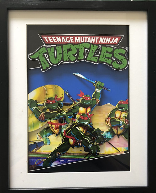 Turtles NES Box Art 3D Art Shadow Box Diorama