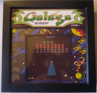 GALAGA Arcade Screen 3D Diorama Shadow Box