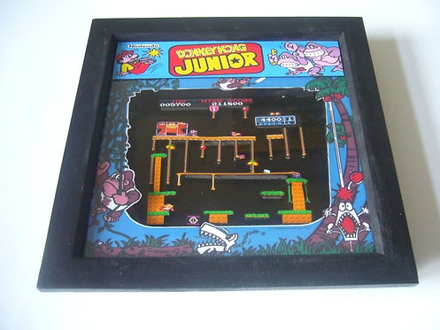 DONKEY KONG JUNIOR Arcade Screen 3D Diorama Shadow Box