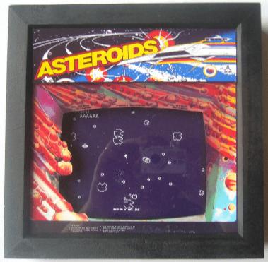 ASTEROIDS Arcade Art 3D Shadow Box