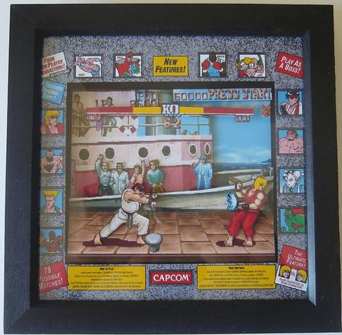 STREET FIGHTER 2 Arcade Art 3D Diorama Shadow Box