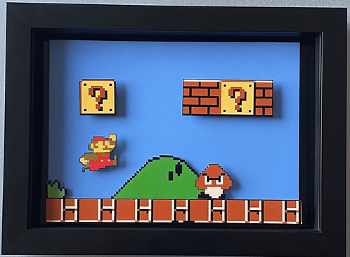 Mario Bros NES 3D Diorama Shadow Box