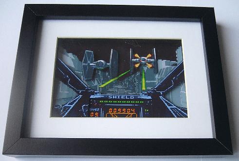 Star Wars X-Wing Arcade Art 3D Diorama Shadow Box
