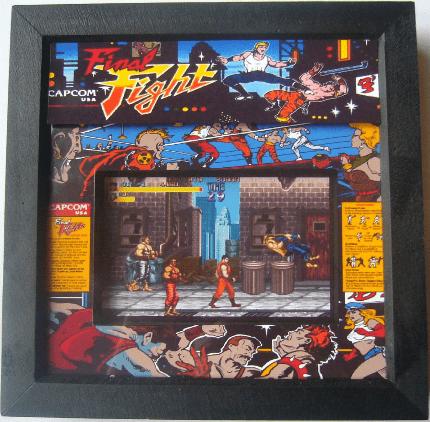 FINAL FIGHT Arcade Screen 3D Diorama Shadow Box