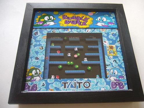 BUBBLE BOBBLE Arcade Screen 3D Diorama Shadow Box