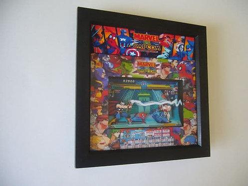 MARVEL VS CAPCOM Arcade Art 3D Shadow Box