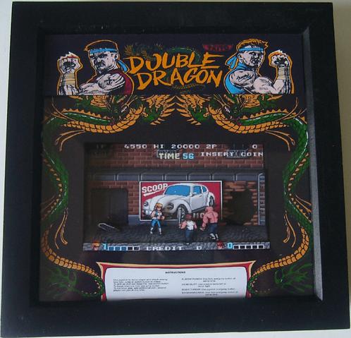 DOUBLE DRAGON Arcade Screen 3D Diorama Shadow Box