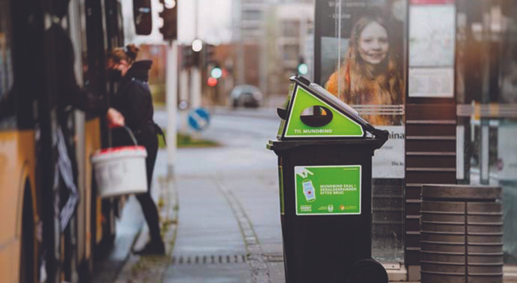 Aarhus tackling facemask pollution with smart design