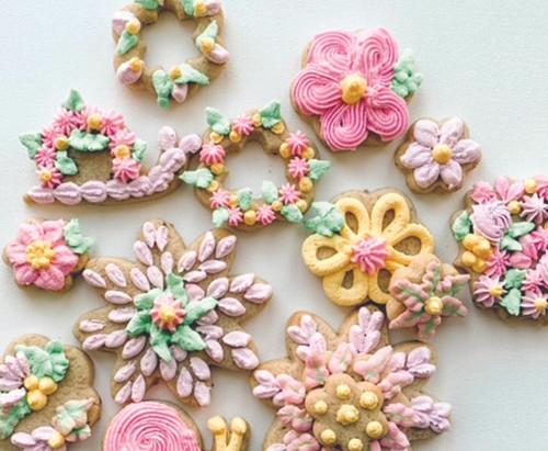 Springtime sugar cookies