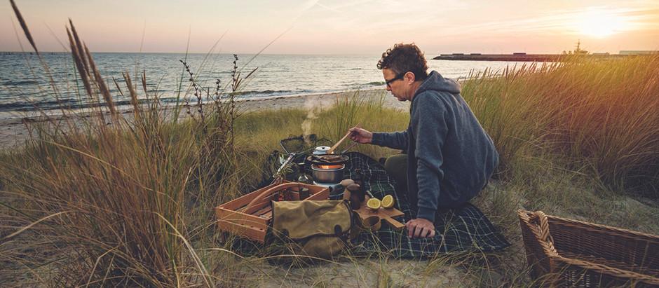 Spring camping in Denmark