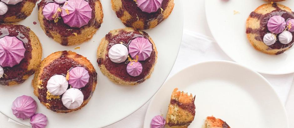 Lemon poppy seed teacakes