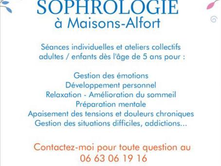 Sophrologie à Maisons Alfort : ateliers sophro, séances individuelles pour une année zen  !