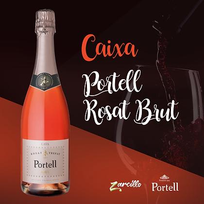 Caixa Espumante Rosé - Cava Portell Rosat Brut