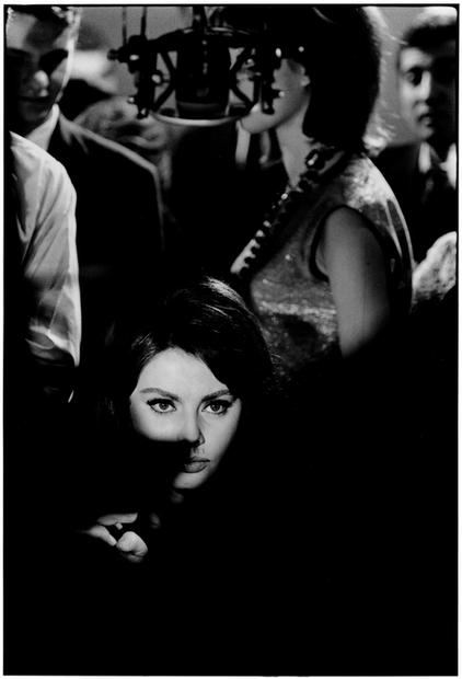 FRANCE. Paris. 1962. Sofia Loren. Set of 'Five Miles to Midnight'.
