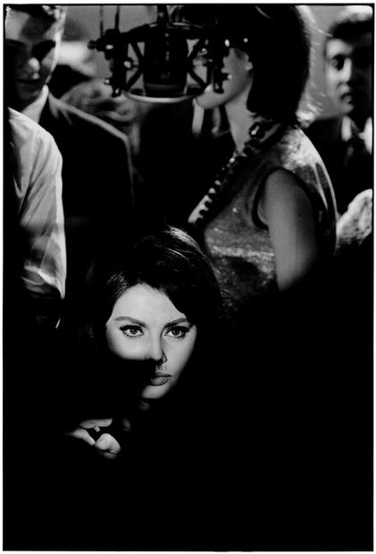 FRANCE. Paris. 1962. Sofia Loren. Set of 'Five Miles to Midnight'.
