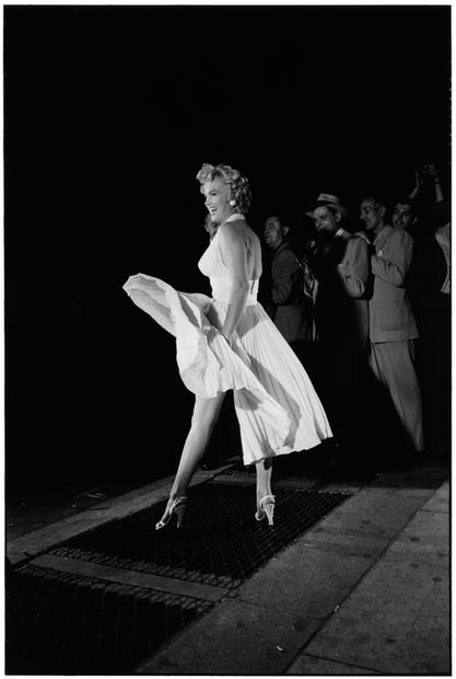 USA. New York City. 1954. Marilyn Monroe.