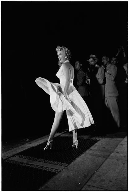 USA. New York City. 1954. Marilyn Monroe.